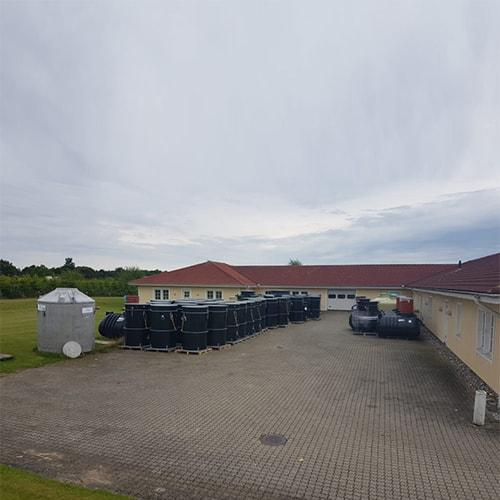 From BioKube warehouse in Denmark small systems are delivered from day to day