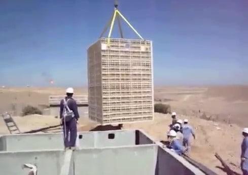 BioReactor wastewater system in at oilfield in Yemen