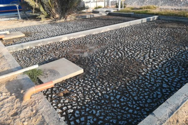 Sludge drying bed by 40 foot BioContainer in Oman - 1