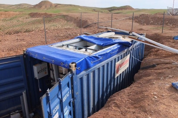 BioContainer wastewater system at oilfield in Iraq - 1